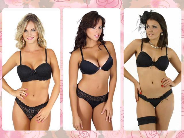Como combinar: lingerie preta