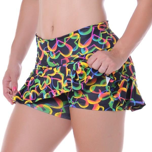 uma imagem sobre short saia